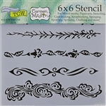 Design Stencil - Ornate Borders