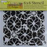 Design Stencil - Distressed Lace