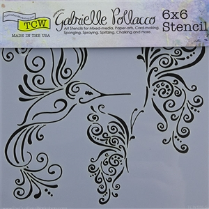 Design Stencil - Bird & Butterflies