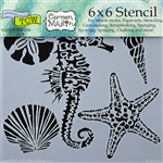 Design Stencil - Sea Creatures