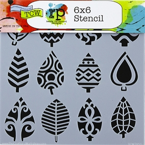 Design Stencil - Abstract Leaves