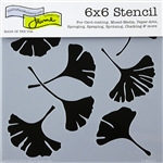 Design Stencil - Ginkgo Leaves