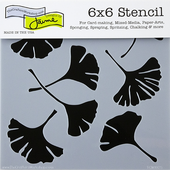 Design Stencil Ginkgo Leaves Cool Tools