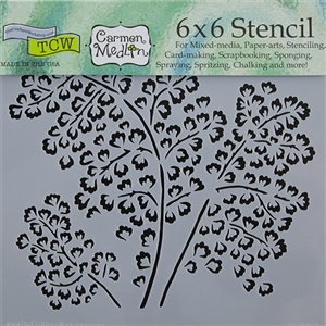 Design Stencil - Maidenhair Fern