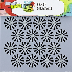 Design Stencil - Retro Bursts