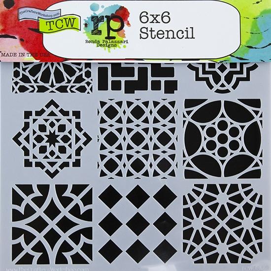 Design Stencil Moroccan Tiles Cool
