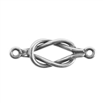 Silver Plate Connector - Knotted Loop