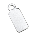 Sterling Silver Name Tag with Ring Large - 5 x 11.5mm - Pkg/4
