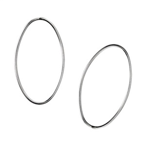 Sterling Silver Oval Link Closed
