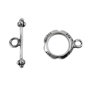 Sterling Silver Fancy Toggle Clasp 11mm - 1 Set