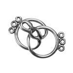 Silver Plate Hook & Eye Clasp - Round 3 Strand - 1 Set
