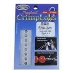 Magical Crimp Loks - Silver Plate .02mm Pkg -  8