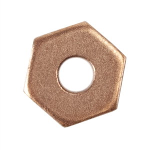 Copper Hex Rivet Accent - Pkg/12