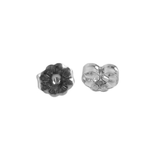 Sterling Silver Daisy Ear Nuts Pkg - 10