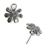 Sterling Silver Post - Daisy 10mm