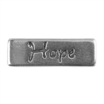 Antique Sterling Silver Plate Flat Leather Slider - Hope 10mm