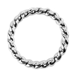 Sterling Silver Round Twist-Wire Open Jump Rings