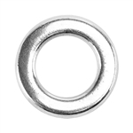 Sterling Silver 4.8mm Round Flat-Wire Closed Ring - Pkg/10