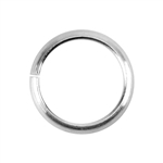 Sterling Silver Round Half-Round Wire Open Jump Rings