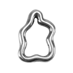 Silver Plate Jump Ring - Amoeba 10.3mm x 7mm