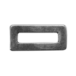 Silver Plate Jump Ring - Rectangle Long 5.6mm x 12.1mm