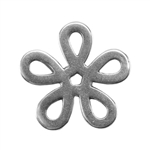 Silver Plate Jump Ring - Flower Large 13.9mm