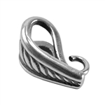Silver Plate Pendant Bail - Rope
