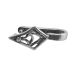 Silver Plate Pinch Bail - Tribal Diamond Pkg - 2
