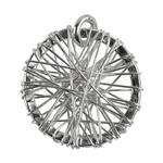 Sterling Silver Pendant - Dream Catcher - 18mm Pkg - 1