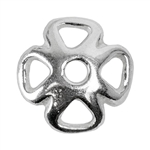 Sterling Silver Bead Cap - 7mm - Pkg/6