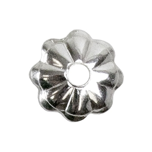 Sterling Silver Bead Cap - 4mm - Pkg/6