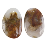 Laguna Lace Agate Gemstone - Freeform Cabochon 18mm x 27mm - Matched Pair