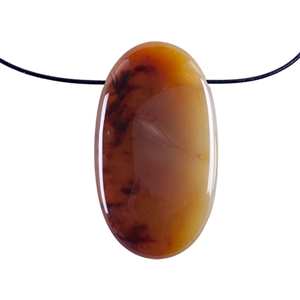 Carnelian Gemstone - Freeform Pendant 30mm x 54mm