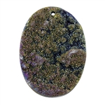 Titanium Electroplated Druzy Gemstone - Freeform Pendant 36mm x 49mm - Pak of 1