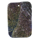 Titanium Electroplated Druzy Gemstone - Freeform Pendant 36mm x 53mm - Pak of 1