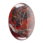 Natural Poppy Jasper Gemstone - Cabochon Oval 22x30mm Pkg - 1