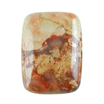 Natural Brecciated Jasper Gemstone - Cabochon Rectangle 22x30mm Pkg - 1