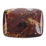 Brecciated Jasper Gemstone - Cabochon - Rectangle 30mm x 40mm Pkg -1