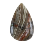 Crazy Lace Agate Gemstone - Freeform Cabochon 26mm x 48mm Pkg - 1