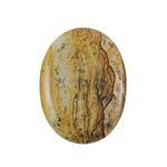 Natural Picture Jasper Gemstone - Cabochon Oval 30mm x 40mm Pkg - 1