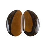 Royal Sahara Jasper Gemstone - Freeform Cabochon Pair 14x21mm - 1 Pair