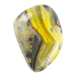 Natural Bumblebee Jasper Gemstone - Freeform Cabochon 15.5mm x 23mm - Pkg/1