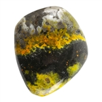 Natural Bumblebee Jasper Gemstone - Freeform Cabochon 21.5mm x 25mm - Pkg/1