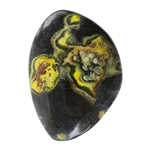 Natural Bumblebee Jasper Gemstone - Freeform Cabochon 22.5mm x 30.5mm - Pkg/1
