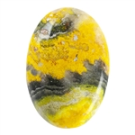 Natural Bumblebee Jasper Gemstone - Oval Cabochon 19mm x 27.5mm - Pkg/1