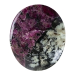 Natural Eudialyte Gemstone - Oval Cabochon 26mm x 31mm - Pkg/1