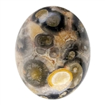 Natural Leopardskin Jasper Gemstone - Cabochon Oval 8mm x 10mm Pkg - 1