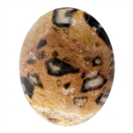 Natural Leopardskin Jasper Gemstone - Cabochon Oval 10mm x 12mm Pkg - 1