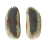 Royal Imperial Jasper Gemstone - Freeform Cabochons 11mm x 24mm