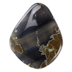Thunder Egg Agate Gemstone - Cabochon Freeform 23mm x 34mm Pkg - 1